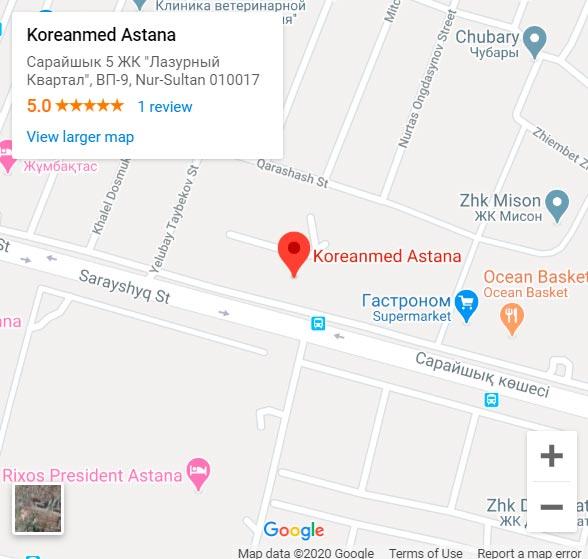 адрес косметологии Koreanmed в городе Нурсултан и Астана